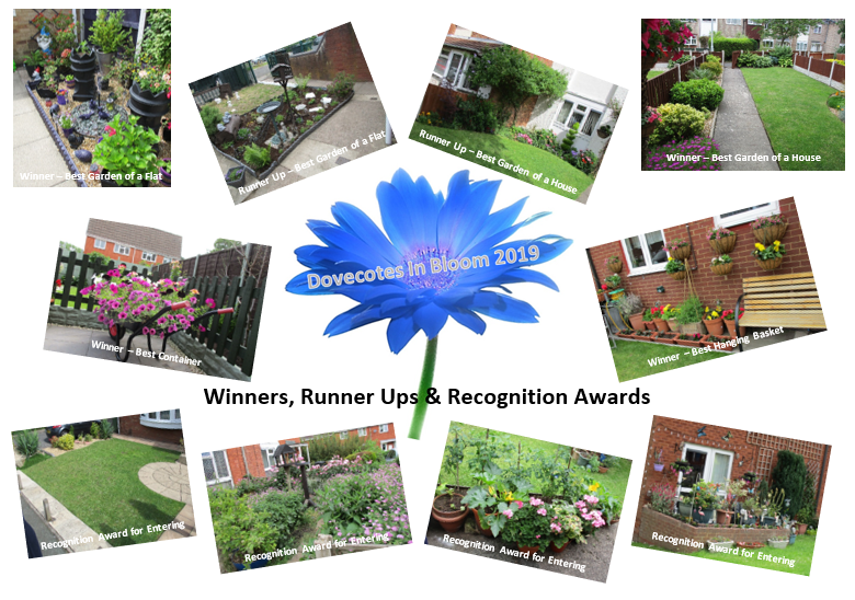 Dovecotes in Bloom Winners, Runner Ups & Recognition Awards