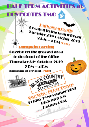 Upcoming Half Term Events