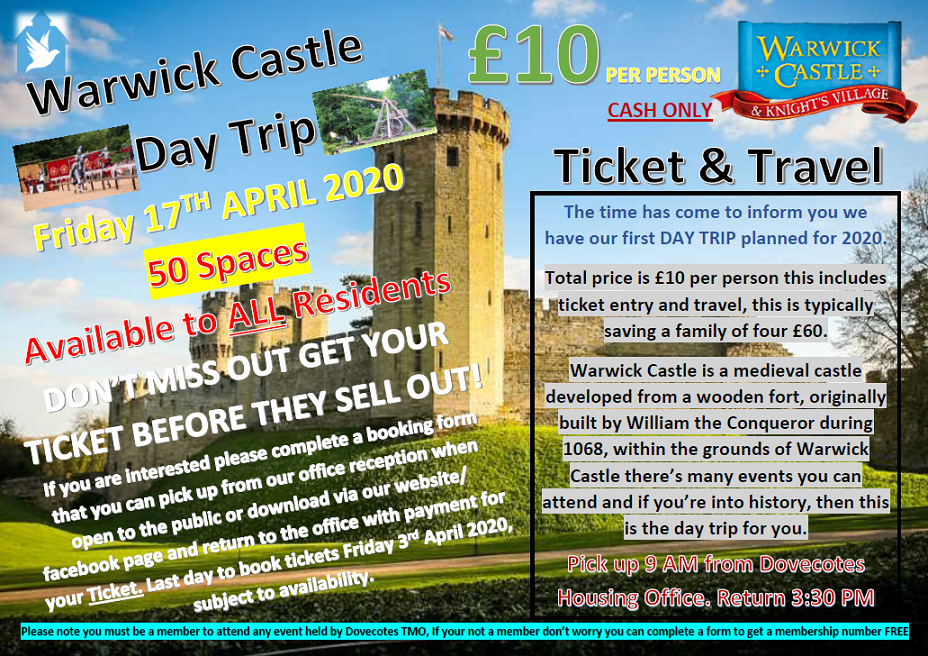 Warwick Castle Day Trip