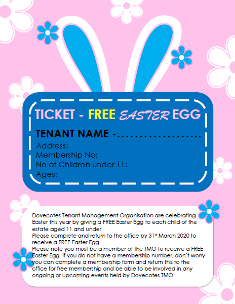 FREE Easter Egg for Children under 11, Take a look…